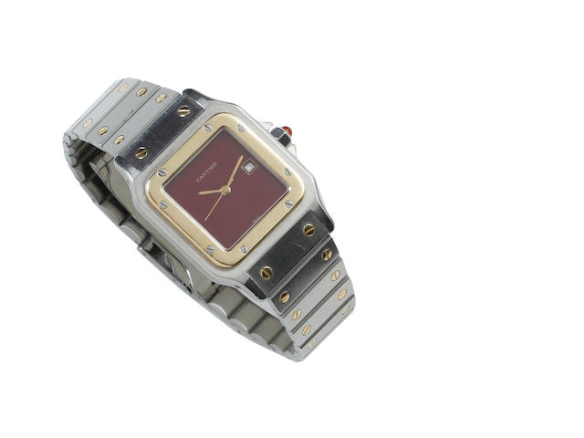 Cartier: A gentleman's Santos automatic stainless steel wristwatch