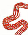 A multi-strand coral necklace