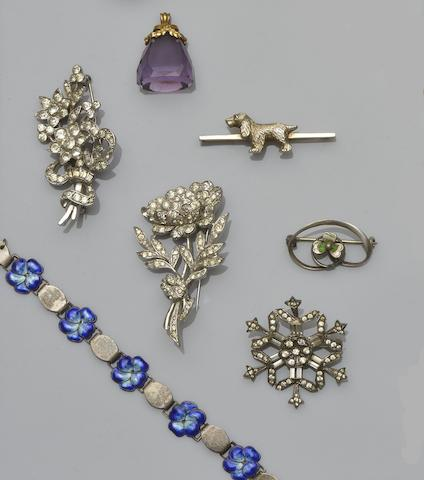 A collection of Victorian and later jewellery and watches