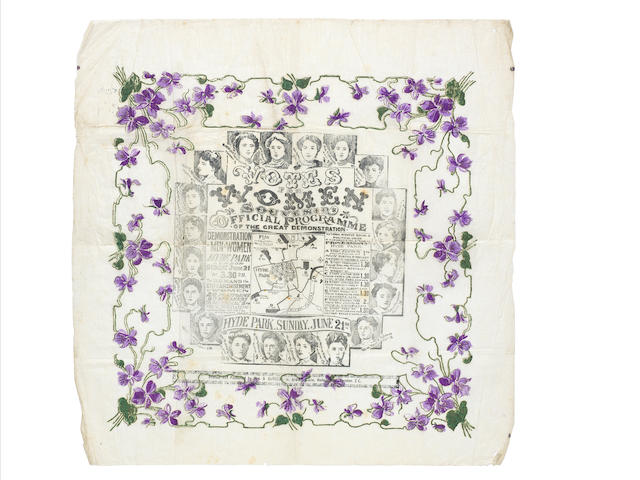 "SUFFRAGETTES ""Votes for Women Souvenir. Official Programme of the Great Demonstration... Hyde Park, Sunday, 21 June [1908]"""