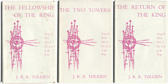 TOLKIEN (J.R.R.) The Lord of the Rings, 3 vol., Readers Union, George Allen & Unwin, 1960