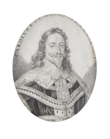 John Faber (the Elder) (Dutch, 1650-1721) Charles I (1600-1649), King of England, Scotland and Ireland (1625-1649), wearing ermine-trimmed cloak, lace collar and the collar of the Order of St George, his hair worn to his shoulders
