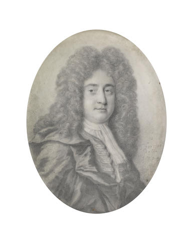 Thomas Forster (British, 1677-1713) James Drake FRS (1667-1707), wearing coat, chemise, stock and cravat, billowing mantle and full-bottomed wig