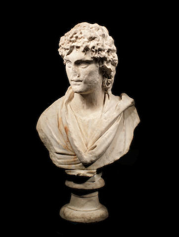 A Roman marble portrait bust of a youth