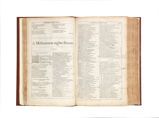 SHAKESPEARE (WILLIAM) Comedies, Histories, and Tragedies... Unto Which is Added, Seven Plays, Never Before Printed in Folio, FOURTH FOLIO EDITION, [H. Herringham, 1685]