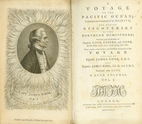 COOK (JAMES) A Voyage to the Pacific Ocean, 4 vol., John Stockdale, 1784