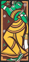 Jamini Roy (India, 1887-1972) Untitled (Gopi Woman),