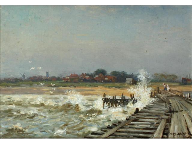 William Kay Blacklock (British, active 1897-1921) Walberswick from the Pier