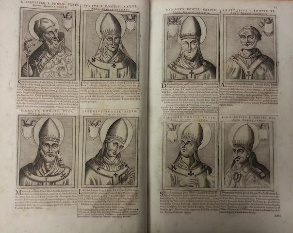 CHERUBINI (LAERTIUS and ANGELO MARIA) Magnum bullarium romanum a B. Leone magno usque ad S.D.N. Clementem X, 5 vol. in 4, Lyon, P. Borde and J. & P. Arnaud, 1673