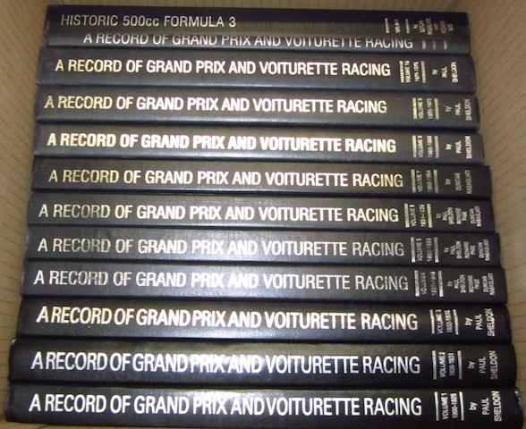Paul Sheldon & Duncan Rabagliati: A Record of Grand Prix and Voiturette Racing; Volumes 1-10,