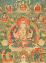 A Thangka depicting Shadakshari Lokeshvara Tibet, 18th Century