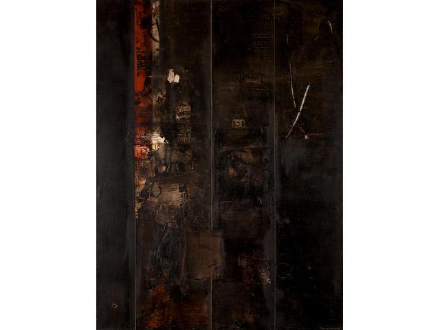 Yiannis Spyropoulos (Greek, 1912-1990) Orossimo 6 130.5 x 97 cm.
