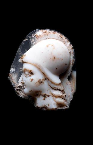 A large Roman onyx cameo of Athena