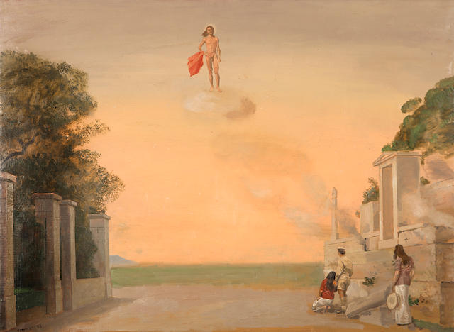 Yiannis Tsarouchis (Greek, 1910-1989) Dionysos in Euripides' The Bacchae 73 x 100 cm.