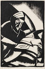 Jacob Kramer (British, 1892-1962) The Philosopher Lithograph, circa 1922, on wove, signed and titled in pencil, from the edition of 50, with margins, 457 x 300mm (18 x 11 3/4in)(I)