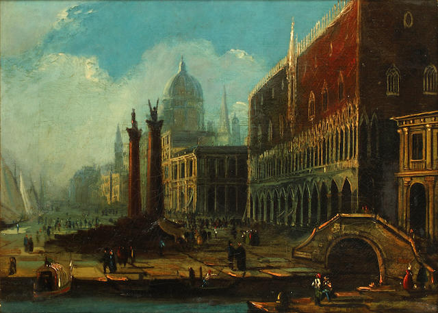 Continental School Venetian scene