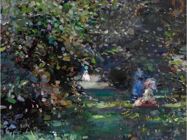 Francis Campbell Boileau Cadell, RSA RSW (British, 1883-1937) Summer Garden 100 x 66 cm. (39 3/8 x 26 in.)
