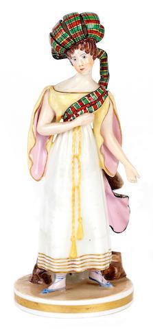 A rare Derby figure of Henrietta Sontag, circa 1830