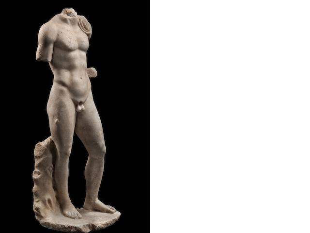 A Roman marble figure of a young man