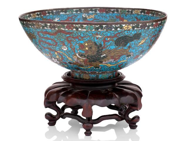 A cloisonné bowl Late Ming