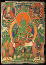 A Thangka depicting Green Tara Tibet, 18th/ 19th Century