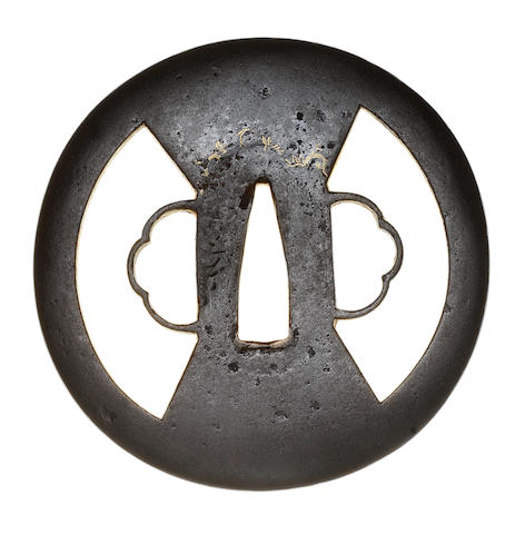 A Higo Toyama tsuba and a Higo Kamiyoshi tsuba Edo Period, early 17th and early 19th century