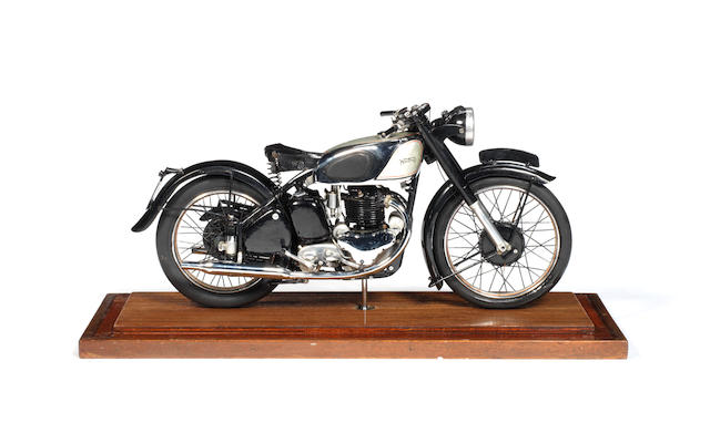 A fine 'one off' 1:6 scale model of a Norton Dominator, produced by staff at the Bracebridge Factory in 1948 for Gilbert Smith,