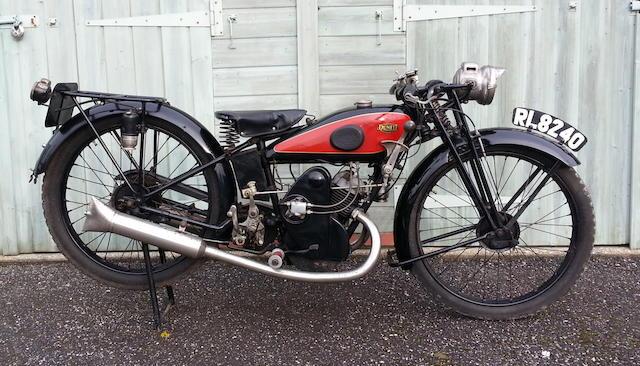 1928 Dunelt 249cc Model K Royal Frame no. 7987 Engine no. K7703