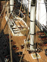 A large well made modern model of the American frigate, USS Constitution 1797, 73ins.(185cm)long.