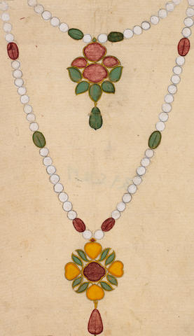 A group of eleven jewellery Designs, by Terhaswamiran Narayanuj Jaipur, dated 1797(4)