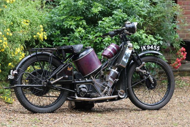 1926 Scott 498cc Super Squirrel Frame no. 2185 Engine no. Z9440