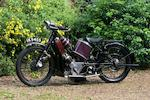 1926 Scott 498cc Super Squirrel Frame no. 2185 Engine no. Z9440