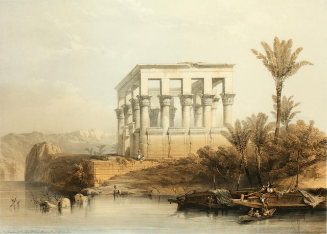 After David Roberts, RA (British, 1796-1864) The Hypaethral Temple at Phila called The Bed of Pharaoh