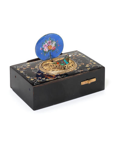 A Chevob & Co singing bird box Swiss,  circa 1900,