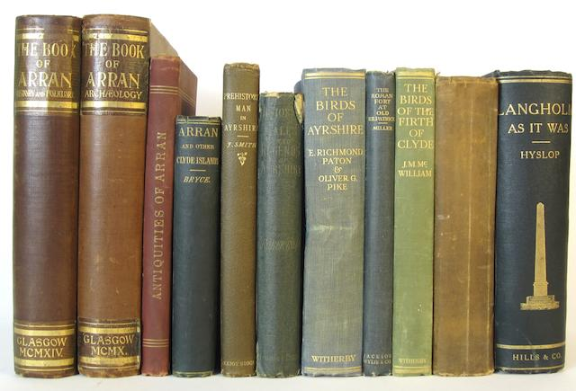 ARRAN, AYRSHIRE and CLYDE DISTRICT MACKENZIE (W.M.) The Book of Arran, 2 vol., Glasgow, Jackson, Wylie, 1928, publisher's cloth, all 8vo unless mentioned (11)