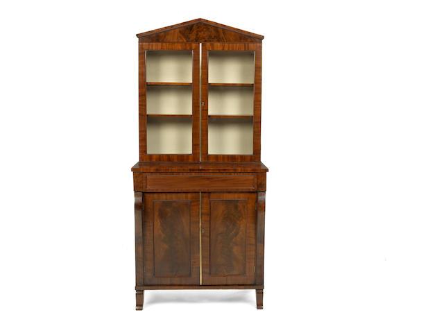 A George IV mahogany display cabinet