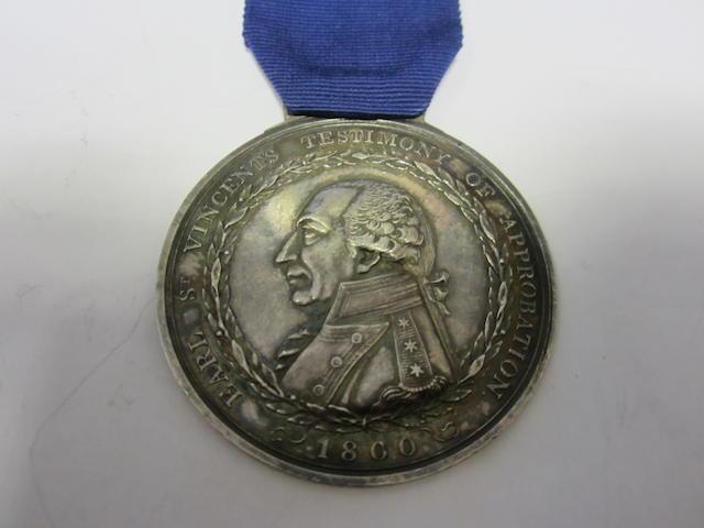 Earl St.Vincent's Medal 1800,