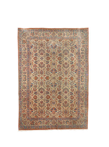 A Kashan carpet, Central Persia, 305cm x 214cm
