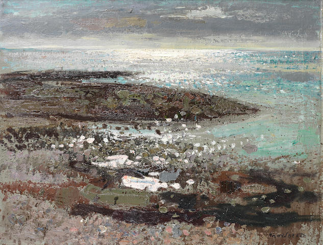 Alberto Morrocco, OBE RSA RSW RP RGI LLD D Univ (British, 1917-1998) The Sea at Benham 71.1 x 91.4 cm. (28 x 36 in.)