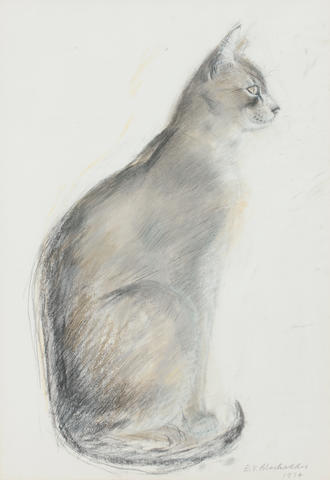 Dame Elizabeth Blackadder OBE RA RSA RSW RGI DLitt (British, born 1931) Cat 35 x 25 cm. (13 3/4 x 9 13/16 in.)