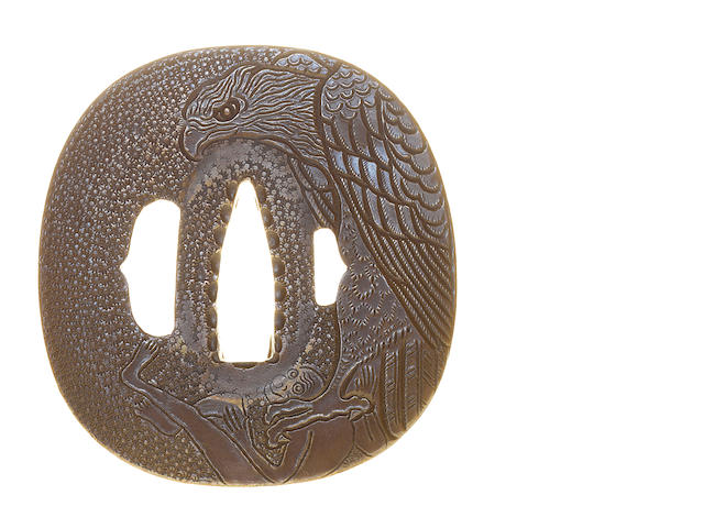 Two Higo Nishigaki sentoku tsuba Late 17th and 18th century