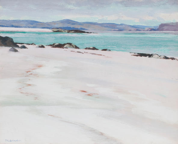 Francis Campbell Boileau Cadell, RSA RSW (British, 1883-1937) IONA (white sands looking East) 36 x 43.5 cm. (14 3/16 x 17 1/8 in.)