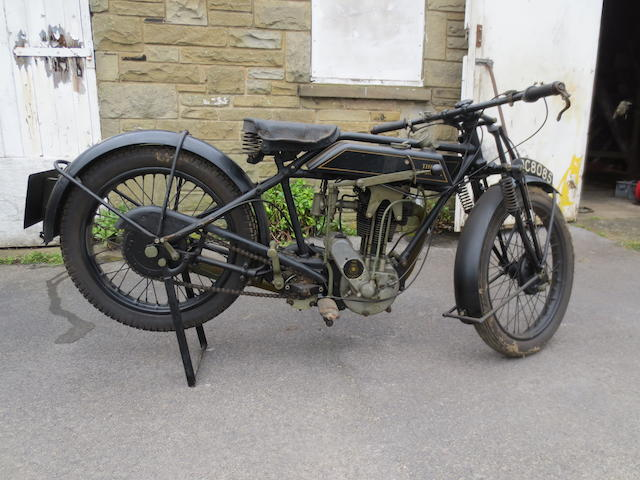 1928 Sunbeam 347cc 'Model 8' Frame no. C1207 Engine no. K1254