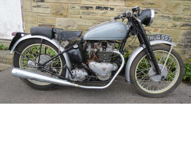 1949 Triumph 499cc Trophy Frame no. TC 113291 Engine no. TR5 9106322