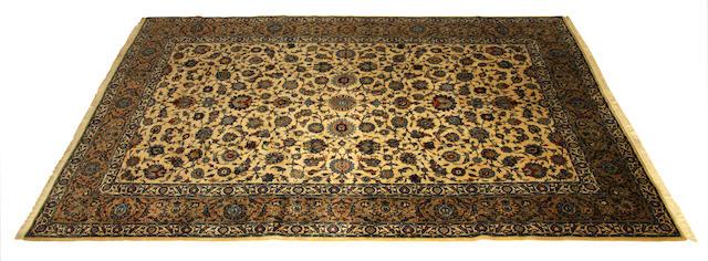 A Kashan carpet, Central Persia, 390cm x 268cm