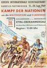 Six 1960s German and Austrian motorcycle race posters,