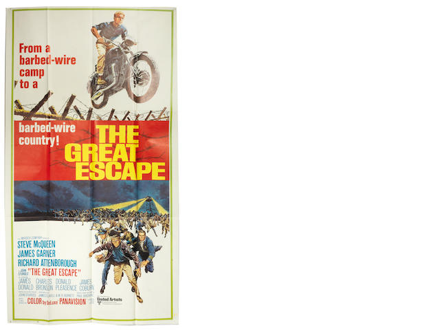 A film poster for 'The Great Escape', 1970,