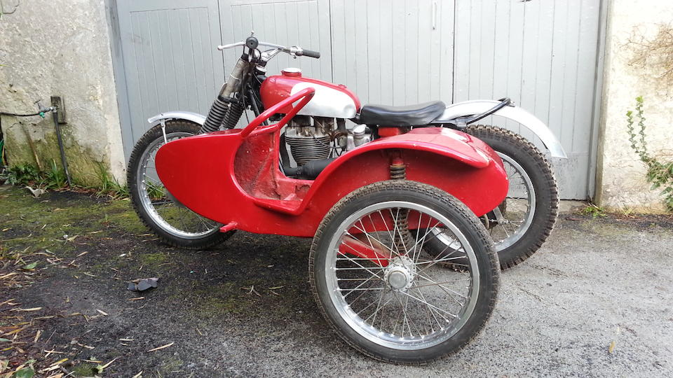 The ex-Ron Langston/Doug Cooper, British Championship-winning, 1956 Ariel 500cc Trials Sidecar Outfit Frame no. RJL1 PRS251 Engine no. LC647