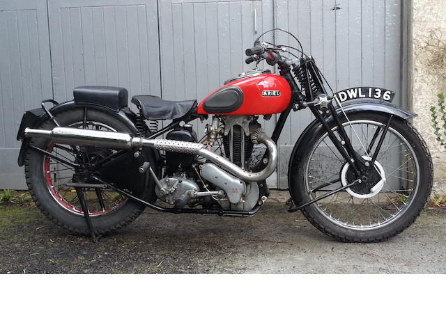 1936 Ariel 499cc Red Hunter Competition Model Frame no. F4724 Engine no. CB2852
