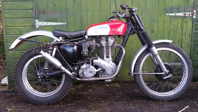 1958 Ariel 350cc HT3 Trials Motorcycle Frame no. CRT529 Engine no. TH122